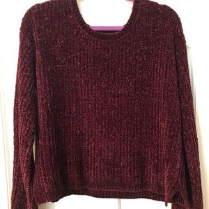 Burgundy Chenille Sweater